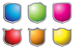 Shield. Illustration of shield on white background Royalty Free Stock Photo