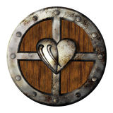 Shield. Illustration with an heart Stock Images