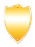 Shield. Yellow shield illustration protection safety secure stock illustration