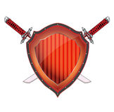 Shield. Easy to resize or change color stock illustration
