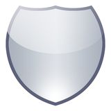 Shield. Shiny shield isolated on white background Royalty Free Stock Images