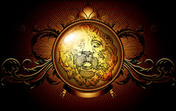 Shield ancient with lion Stock Photography