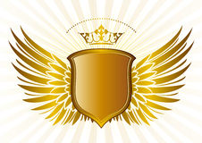 Shield And Crown,wings Pattern Stock Photos