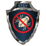 Shield anti-bug Royalty Free Stock Images