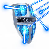 Shield antivirus. Abstract (done in 3d Stock Images