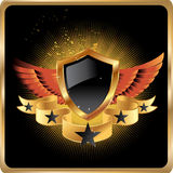 Shield badge royal vector background Stock Image