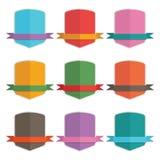 Shield badges Royalty Free Stock Image