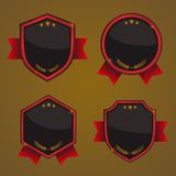 Shield, Badges Vector. Sith glossy design / realistic Stock Photos