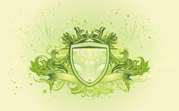 Shield banner Royalty Free Stock Image