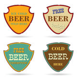 Shield with beer commercial  Stock Photo