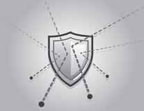 Shield Blocking Bullets Stock Photo