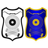 Shield, bow and arrows Royalty Free Stock Photo