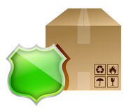 Shield box protection royalty free illustration
