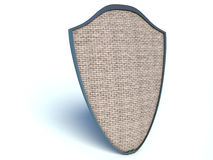 Shield with brick texture on white background Royalty Free Stock Image