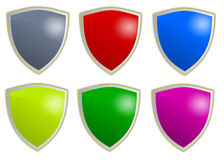 Shield buttons Royalty Free Stock Photography
