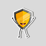 shield character design Stock Image