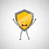shield character design Royalty Free Stock Images