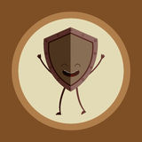 shield character design Stock Photography