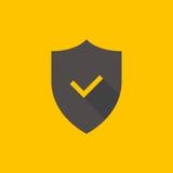 Shield and check mark icon Stock Photos