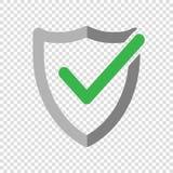 Shield check mark logo icon. Vector illustration stock illustration