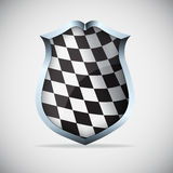 Shield with checkered flag Stock Photo