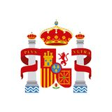 Shield classic icon of Spanish culture Stock Image