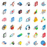 Shield cloud icons set, isometric style. Shield cloud icons set. Isometric style of 36 shield cloud vector icons for web isolated on white background Stock Photo