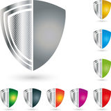 Shield, coat of arms, collection, security and shield logo. Shield, coat of arms, collection, colored, security and shield logo Stock Images
