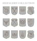 Shield collection Stock Photos