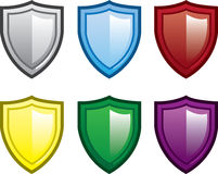 Shield Colors Stock Photography