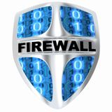Shield computer. Abstract firewall (done in 3d Royalty Free Stock Photos