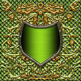 Shield or crest for stock with space for text Royalty Free Stock Photos