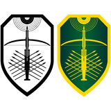 Shield, crossbow and arrows-2. Image crossbow with arrows on the board. Illustration on white background Royalty Free Stock Photography