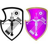 Shield, crossbow and arrows-4 Stock Photo