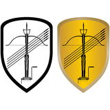 Shield, crossbow and arrows Royalty Free Stock Photos