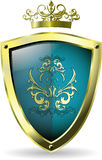 Shield and crown Stock Photos