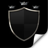 Shield and crowns. Royalty Free Stock Photos