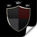 Shield and crowns. Royalty Free Stock Image