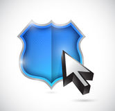 Shield and cursor illustration design Stock Photography