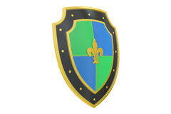 Shield, 3D rendering Royalty Free Stock Images