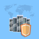 Shield Data Center Protection, Internet Security Stock Photography