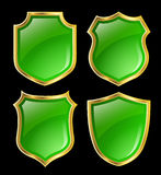 Shield design set Royalty Free Stock Image