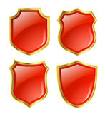 Shield design set Stock Photography
