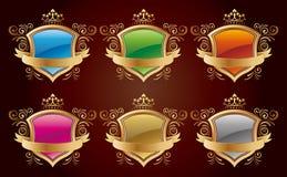 Shield design set Royalty Free Stock Photos