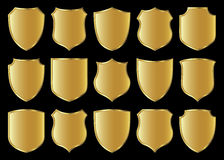 Shield design set Royalty Free Stock Photos