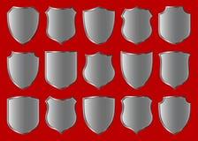 Shield design set vector illustration