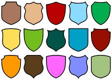 Shield design set Stock Image