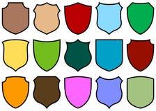 Shield design set. Simple shield design set with various shapes Stock Image