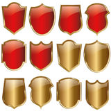 Shield design set - vector Stock Image