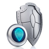 Shield digital concept Stock Image